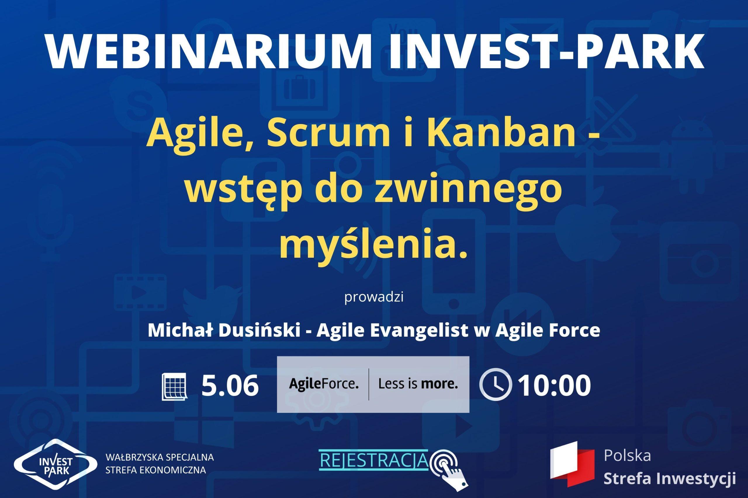 """Wałbrzyska Specjalna Strefa Ekonomiczna """"INVEST-PARK"""", zaprasza na darmowe szkolenie on-line."""