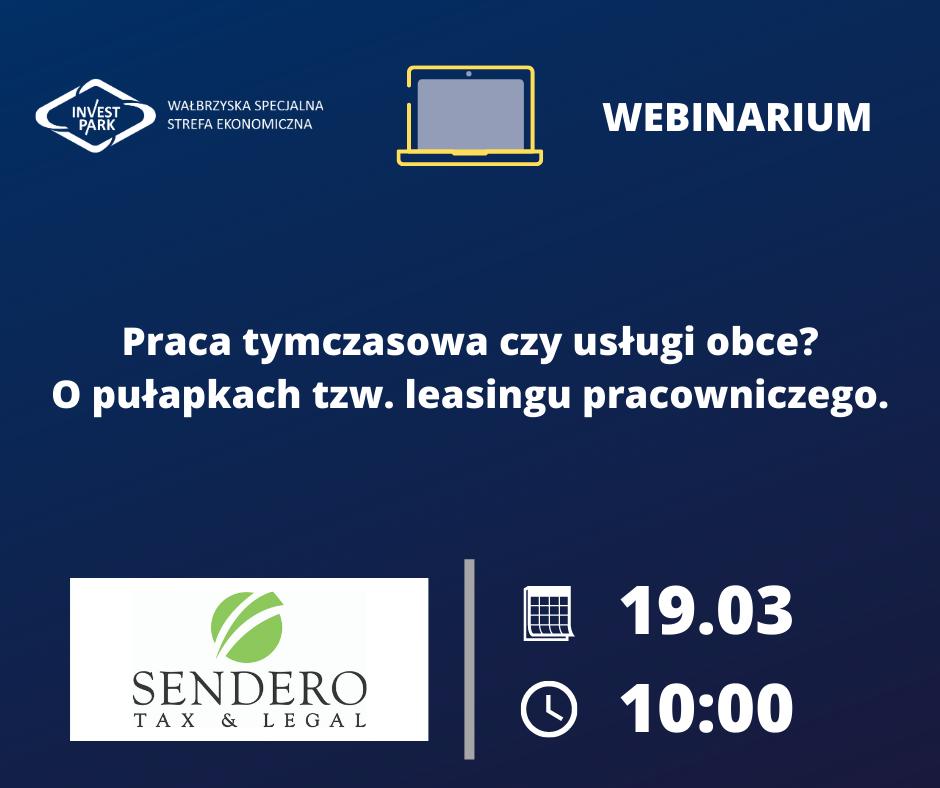 """Wałbrzyska Specjalna Strefa Ekonomiczna """"INVEST-PARK"""", zaprasza nabezpłatne webinarium"""